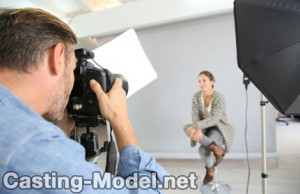 Casting Model im Fotoshooting